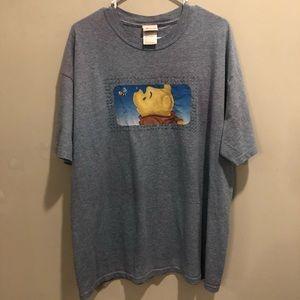 Disney store Winnie the Pooh graphic tee blue